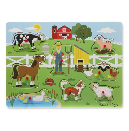 Melissa & Doug  Sound Puzzle - Old Macdonald's Farm